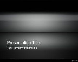 Plantilla de PowerPoint de Hierro Oscuro