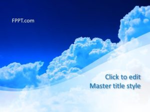 Plantilla de Air PowerPoint gratis
