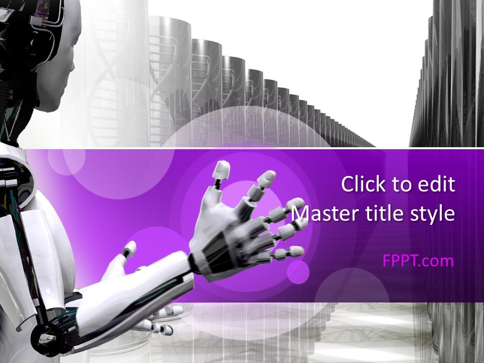 Plantilla de Robot PowerPoint gratis