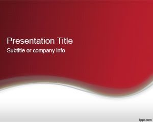 Abstract Red PowerPoint Template 2013