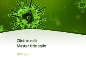 Plantilla gratuita de Virus PowerPoint