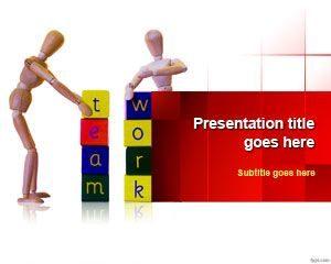 Plantilla PowerPoint de trabajo en equipo gratis