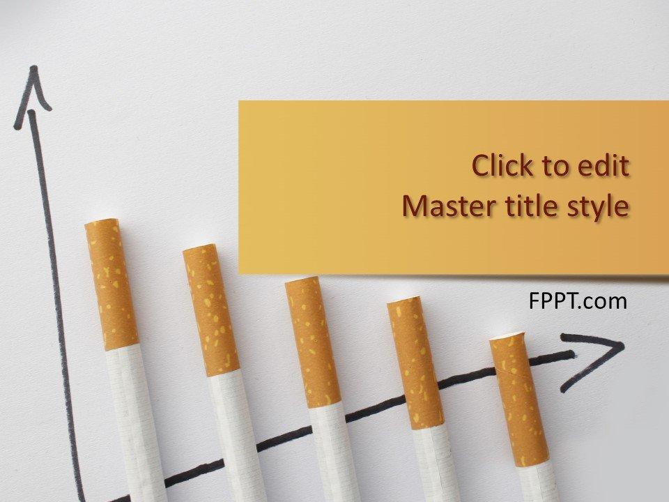 Plantilla de PowerPoint de Cigarrillos Gratis