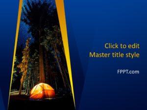 Plantilla de PowerPoint para Campamento Nocturno Gratuito