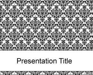 Gratis Plantilla de PowerPoint antigua y negra