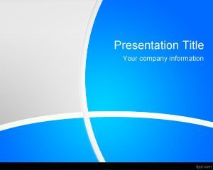 Plantilla PowerPoint Blue Manager gratuita