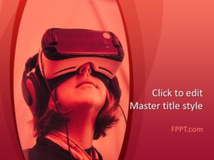 Plantilla de PowerPoint de realidad aumentada gratuita