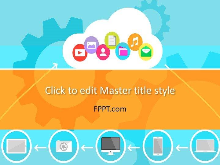 Plantilla de PowerPoint de Cloud Computing gratuita