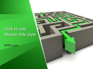 Plantilla de PowerPoint de Laberinto 3D gratuita