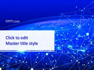 Plantilla de PowerPoint de Red Global de TI gratuita