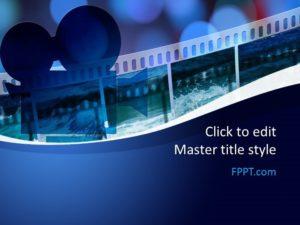 Plantilla de Cine PowerPoint Gratis