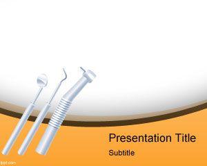 Plantilla de PowerPoint de Free Dentist Instruments