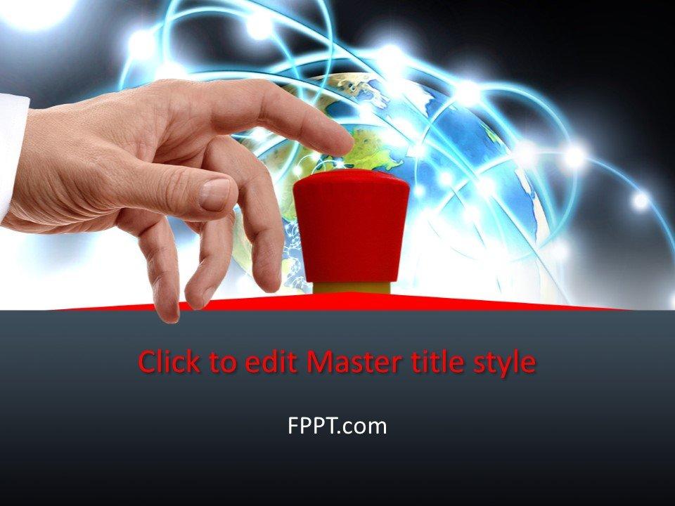 Plantilla de PowerPoint Free Red Button