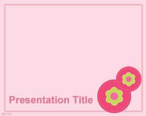 Plantilla de PowerPoint Free Crochet Flower Button