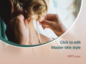 Plantilla de PowerPoint para el peinado de bodas gratis