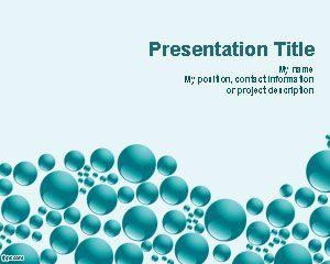 Plantilla de PowerPoint de Blue Spheres gratis