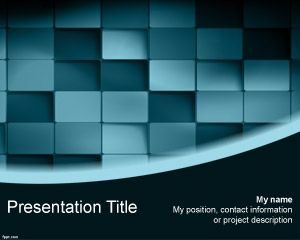 Plantilla de PowerPoint 3D Blue Blocks gratis
