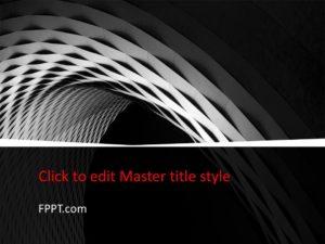 Plantilla de PowerPoint en blanco y negro gratis