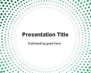 Plantilla de PowerPoint de Puntos Circulares Gratis