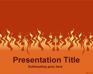 Plantilla de PowerPoint de Fuego Gratis