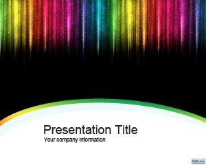Plantilla PowerPoint Color Rain gratis