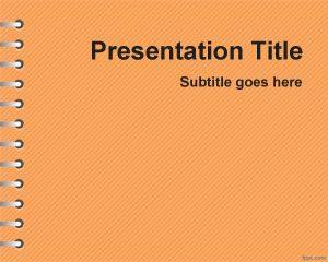 Plantilla de PowerPoint para los deberes de la escuela Free Orange
