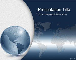 Plantilla de PowerPoint para el Mundo Virtual Gratis