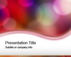 Plantilla Luces de color gratis Plantilla de PowerPoint