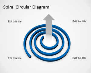 Plantilla de diagrama en espiral gratis para PowerPoint