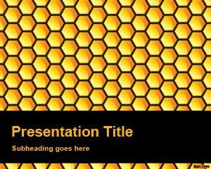 Fondo de PowerPoint de nido de abeja gratuito