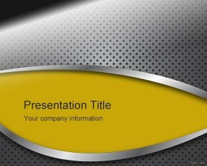 Panel de metal amarillo PowerPoint gratuito
