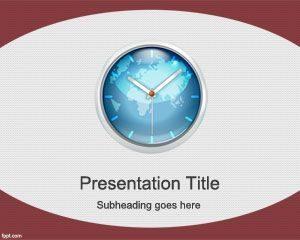 Plantilla de PowerPoint de Tiempo Mundial Gratis
