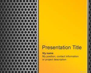 Plantilla PowerPoint de Hierro Gratis