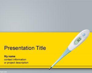 Plantilla de PowerPoint de Termómetro Digital Gratis