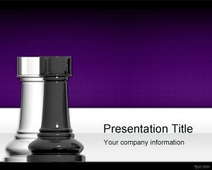 Plantilla de PowerPoint Free Chess Towers
