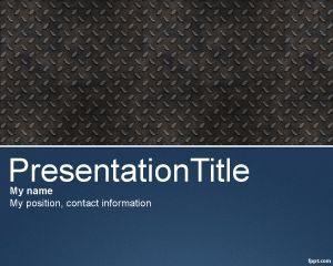 Plantilla Pro PowerPoint gratuita con efecto metálico