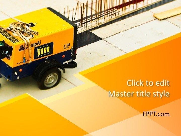 Plantilla de PowerPoint de Yellow Construction gratis