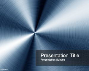 Plantilla de PowerPoint Blue Steel gratis