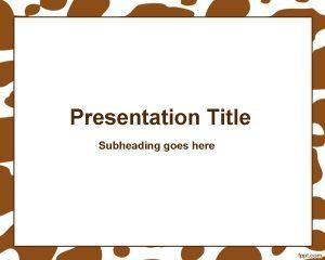 Marco de manchas marrones gratis Plantilla de PowerPoint