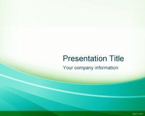 Plantilla de PowerPoint Verde Radiante Libre
