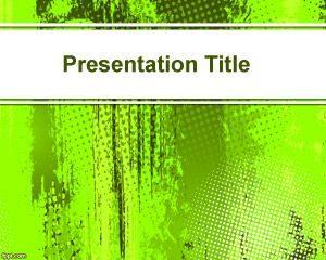 Fondo PowerPoint Verde Brillante Gratuito