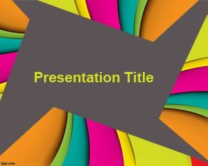 Plantilla de PowerPoint en color gratis para presentaciones