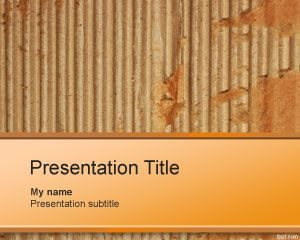 Plantilla PowerPoint Free Cardboard