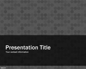 Plantilla de PowerPoint con Diseño Gris Gratis