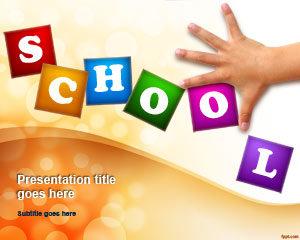 Plantilla de PowerPoint para Educar a los Niños Gratis