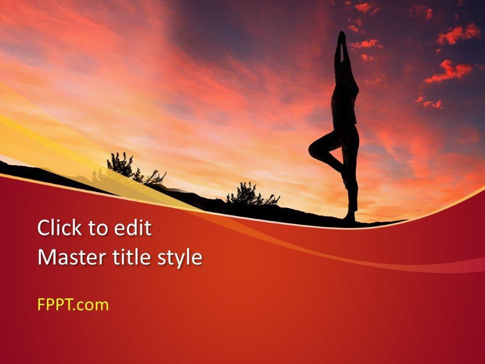 Plantilla de PowerPoint Gymnast gratis