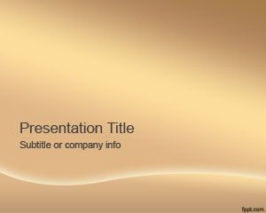 Plantilla de bronce de PowerPoint
