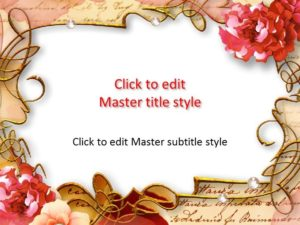 Marco de flores gratis Plantilla de PowerPoint