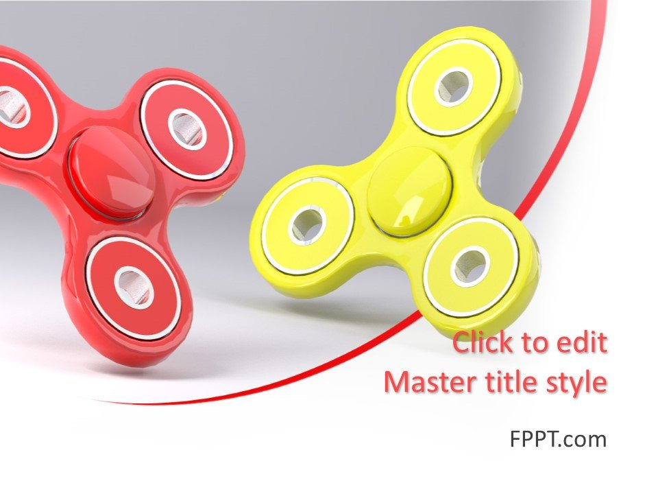 Plantilla de PowerPoint de Spinner gratis