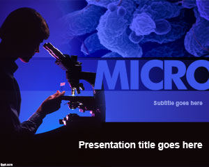 Plantilla de PowerPoint de Microbiología Gratuita